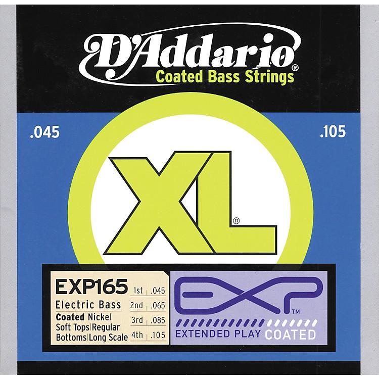 D'AddarioEXP165 Coated Soft Top/Regular Bottom Bass Strings