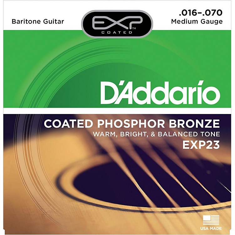 D'Addario EXP23 Coated Phosphor Bronze Baritone Acoustic Guitar Strings