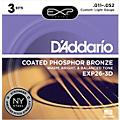 D'Addario EXP26-3D 3-Pack Coated Phosphor Bronze Custom Light Acoustic Guitar Strings