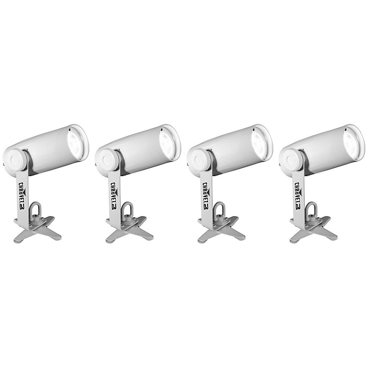 CHAUVET DJEZpin Pack 4 Battery-Powered LED Spot Light Set
