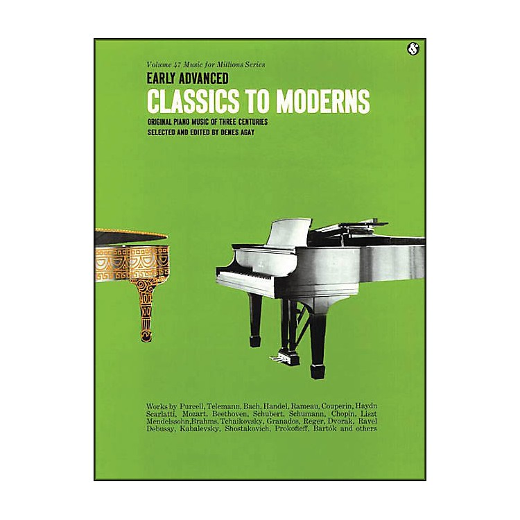 Music SalesEarly Advanced Classics To Moderns By Denes Agay
