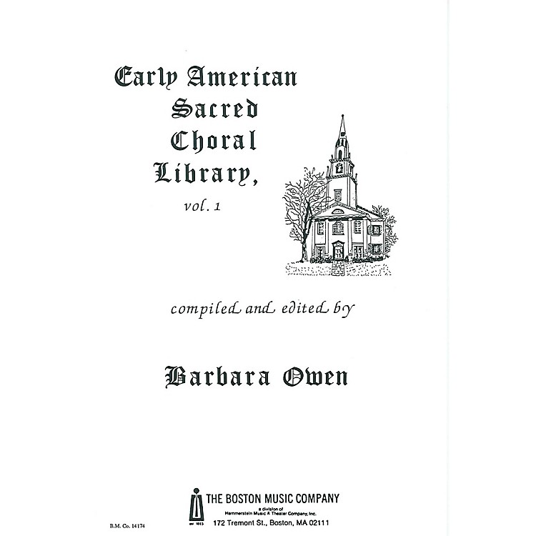 Music Sales Early American Sacred Choral Library Vol. 1 Music Sales America Series