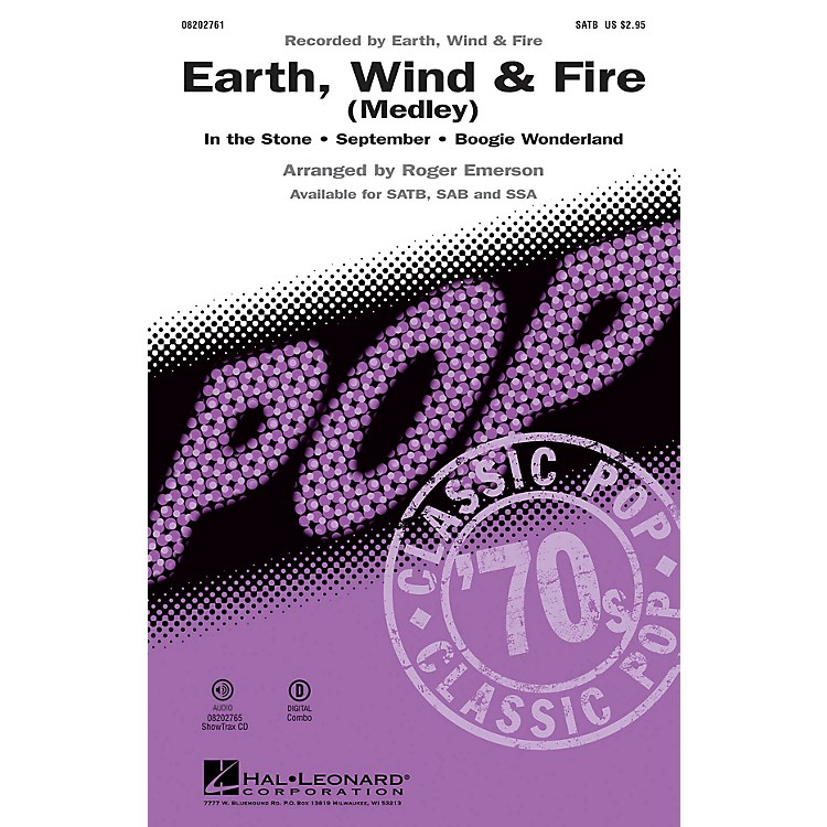 Hal LeonardEarth, Wind & Fire (Medley) ShowTrax CD by Earth, Wind & Fire Arranged by Roger Emerson