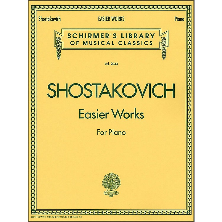 G. Schirmer Easier Works By Shostakovich
