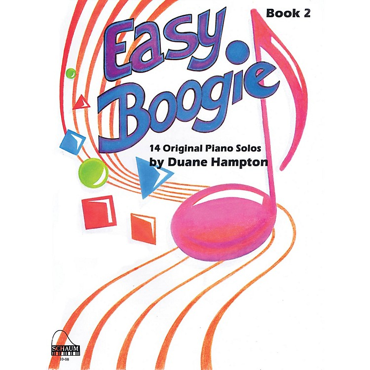 SCHAUM Easy Boogie Book 2 Educational Piano Series Softcover Composed by Duane Hampton