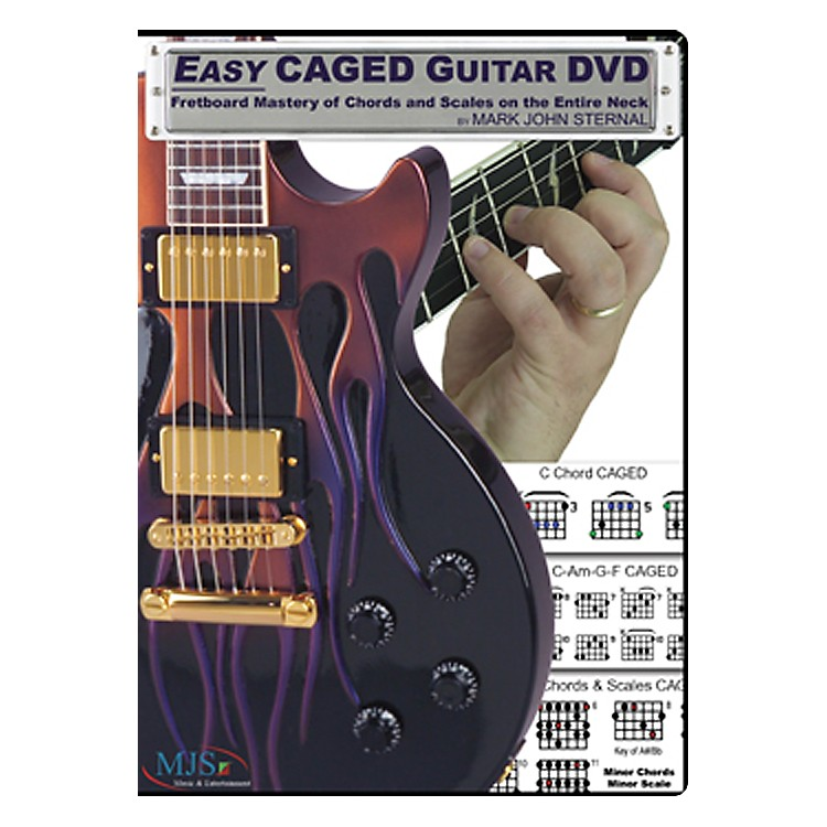 MJS Music Publications Easy CAGED Guitar DVD: Fretboard Mastery of Chords and Scales on the Entire Neck