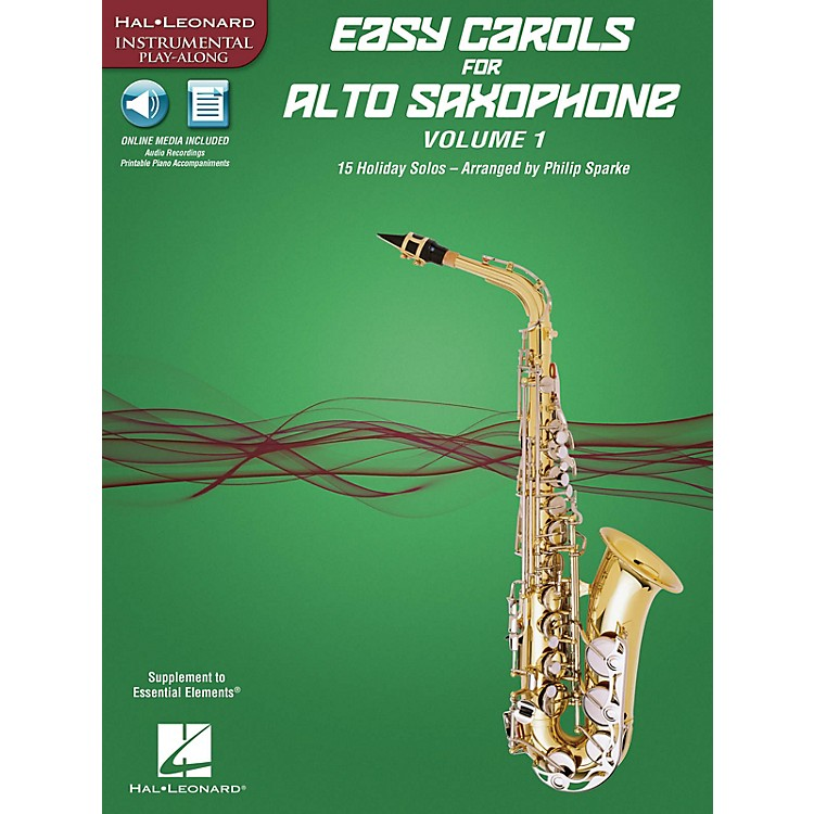 Hal Leonard Easy Carols for Alto Saxophone, Vol. 1 Instrumental Folio Series Book Media Online