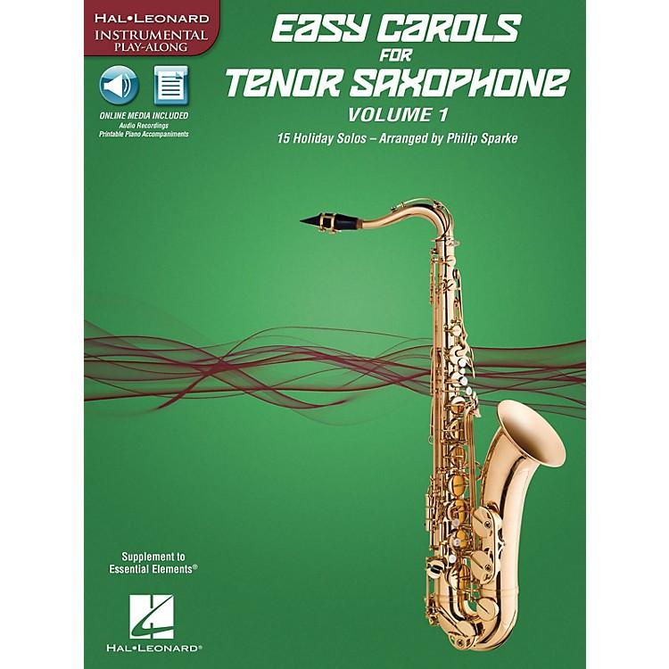 Hal LeonardEasy Carols for Tenor Saxophone, Vol. 1 Instrumental Folio Series Book Media Online