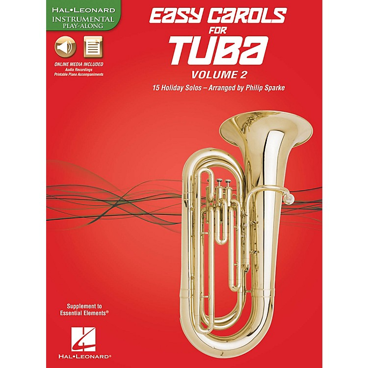 Hal LeonardEasy Carols for Tuba, Vol. 2 (15 Holiday Solos) Instrumental Folio Series Softcover Media Online