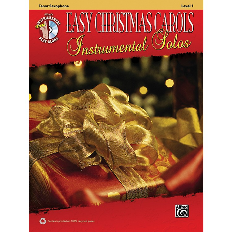 Alfred Easy Christmas Carols Instrumental Solos Tenor Sax Book & CD