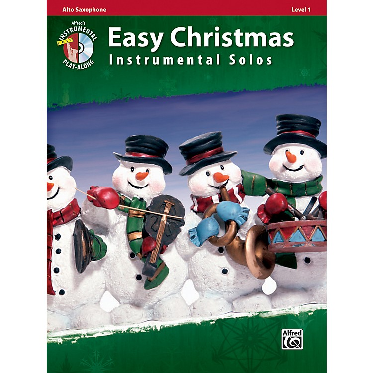 Alfred Easy Christmas Instrumental Solos Level 1 Alto Sax Book & CD