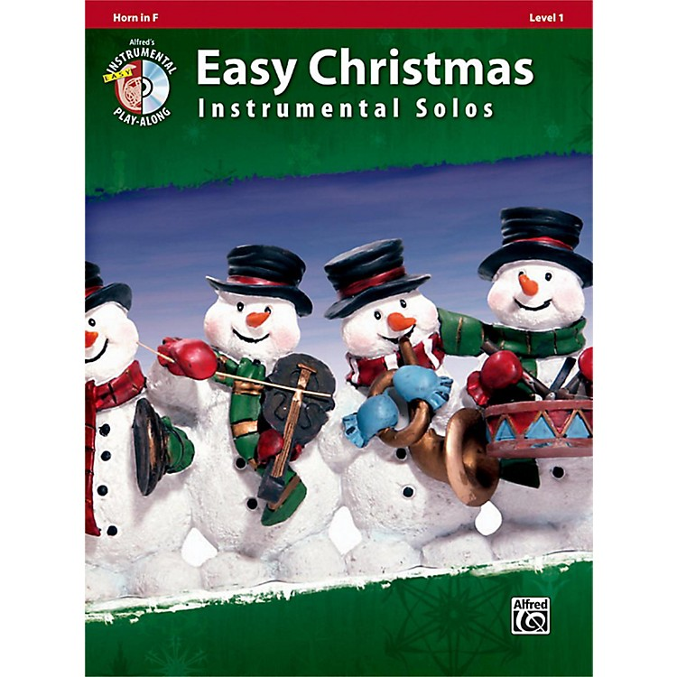 AlfredEasy Christmas Instrumental Solos Level 1 Horn in F Book & CD