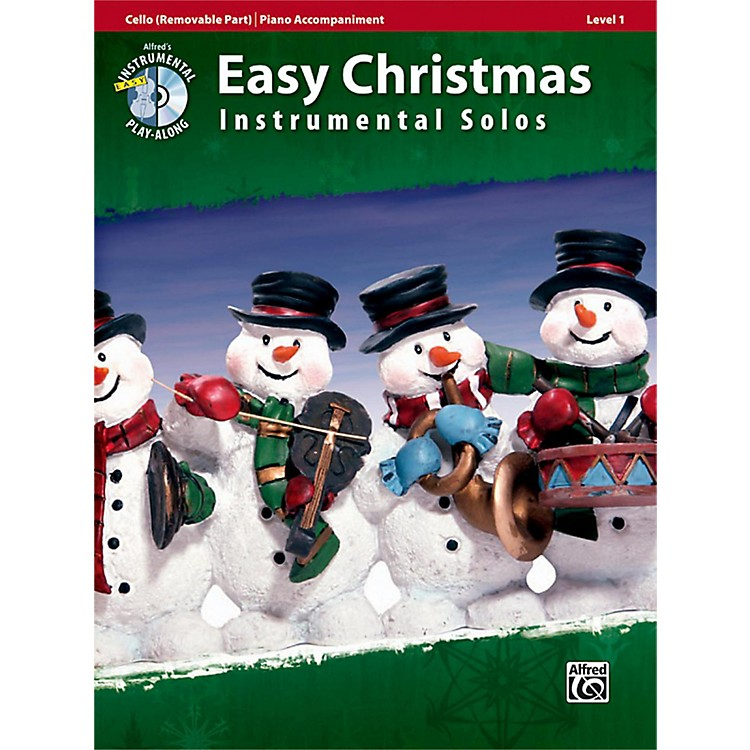 AlfredEasy Christmas Instrumental Solos Level 1 for Strings Cello Book & CD