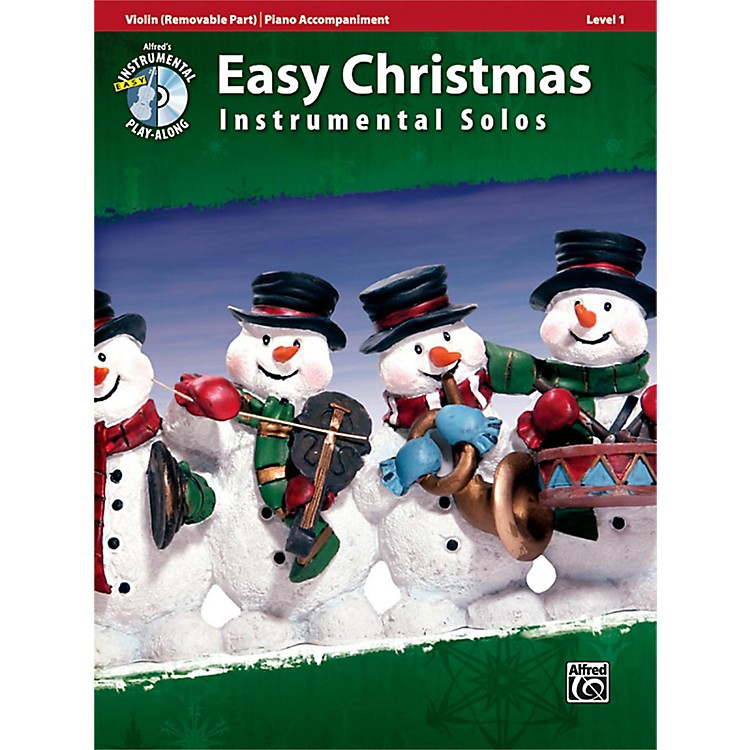 AlfredEasy Christmas Instrumental Solos Level 1 for Strings Violin Book & CD