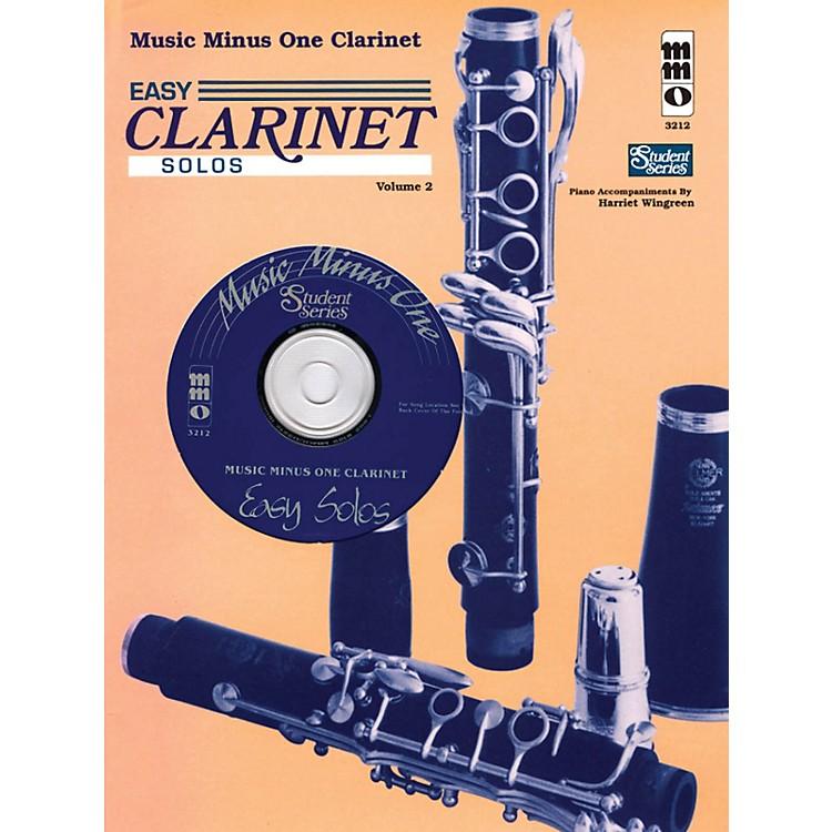 Music Minus OneEasy Clarinet Solos, Vol. II - Student Level Music Minus One Series BK/CD