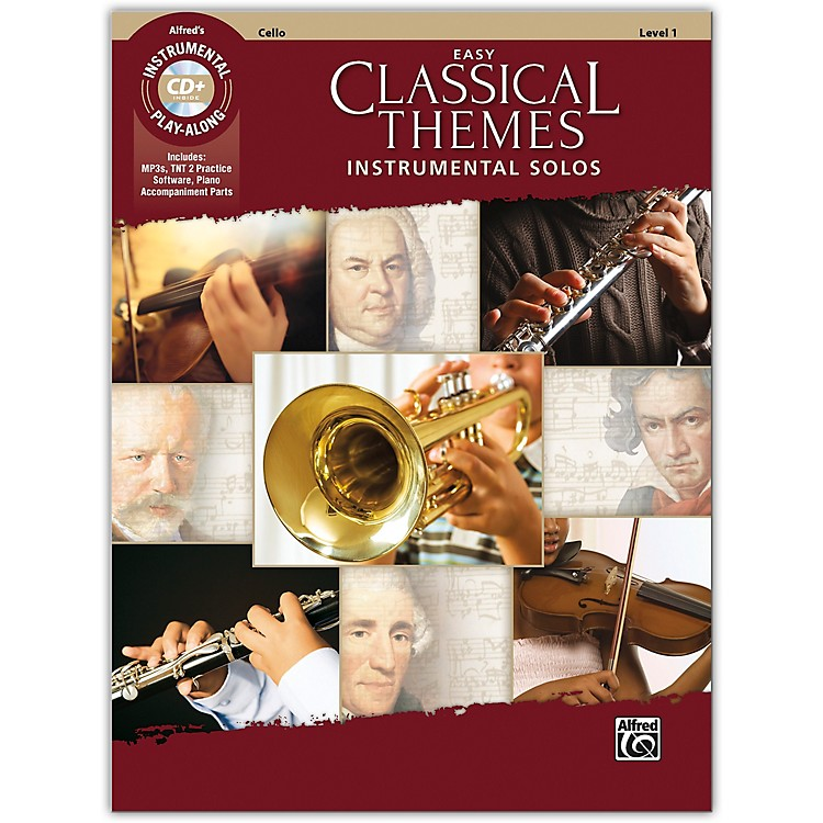 AlfredEasy Classical Themes Instrumental Solos Cello Book & CD Level 1