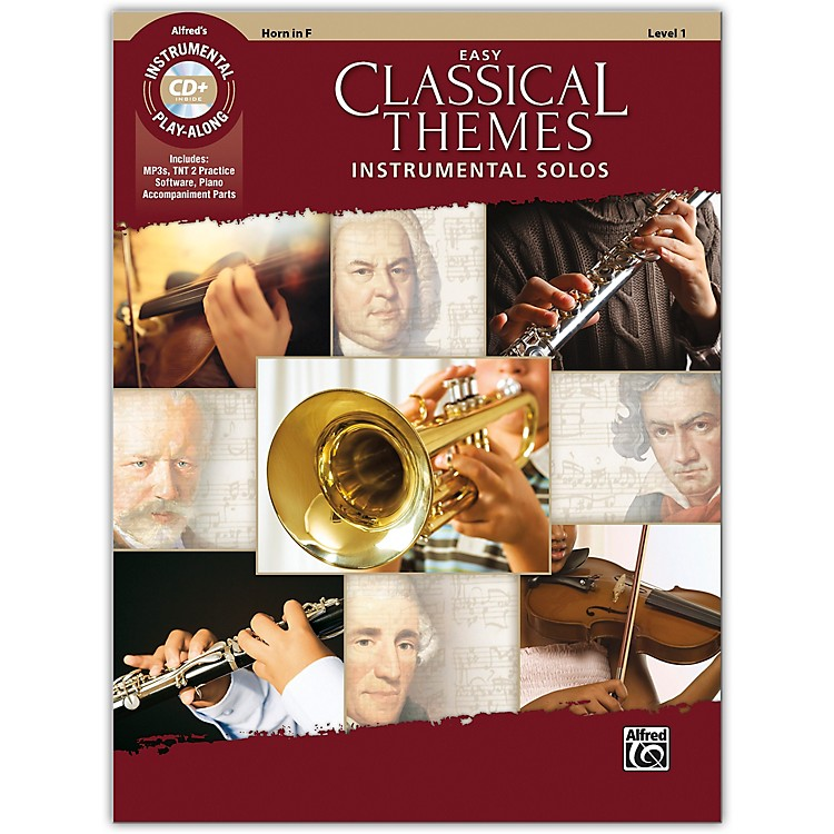 Alfred Easy Classical Themes Instrumental Solos Horn in F Book & CD Level 1