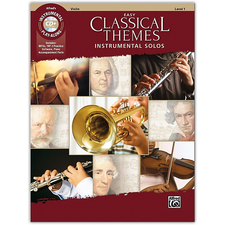 AlfredEasy Classical Themes Instrumental Solos Violin Book & CD Level 1