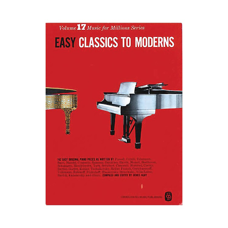 Music Sales Easy Classics To Moderns 142 Piano Pieces