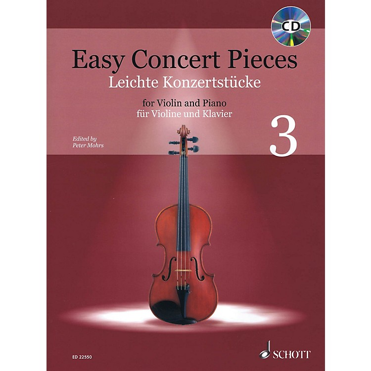 SchottEasy Concert Pieces - Volume 3 (16 Famous Pieces from 4 Centuries)  Violin and Piano Book/CD