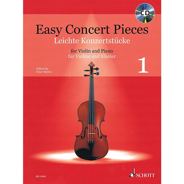 SchottEasy Concert Pieces for Violin and Piano - Volume 1 String Series Softcover with CD Composed by Various