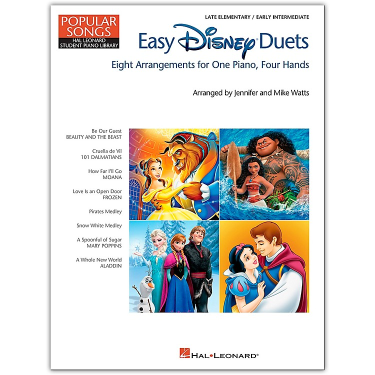 Hal LeonardEasy Disney Duets - Popular Songs Series Late Elementary/Early Intermediate Level