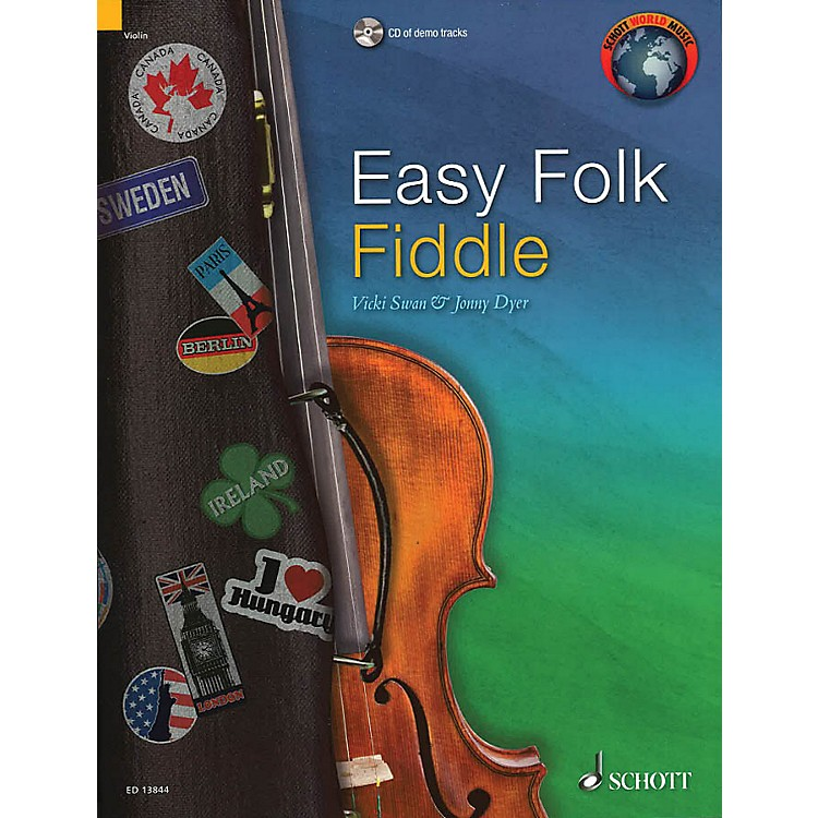 SchottEasy Folk Fiddle (52 Pieces) String Series Softcover with CD