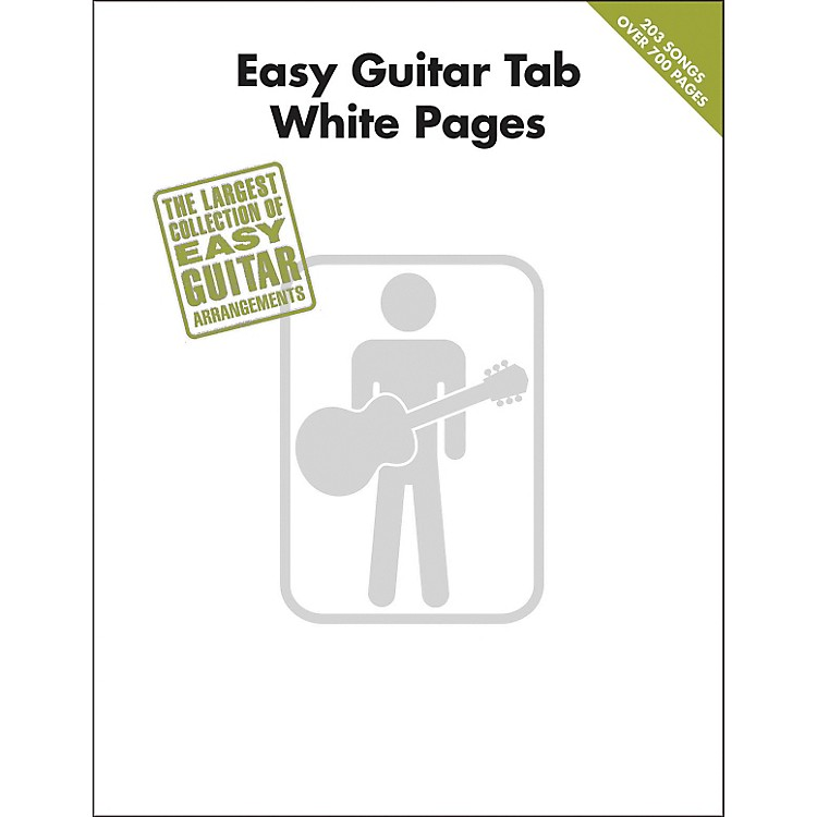 Hal LeonardEasy Guitar Tab White Pages Songbook