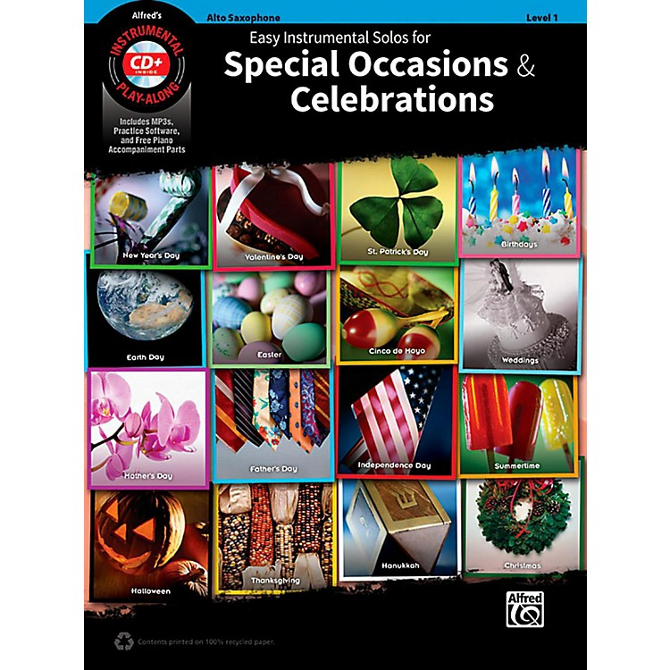 AlfredEasy Instrumental Solos for Special Occasions & CelebrationsAlto Sax Book and MP3 CD