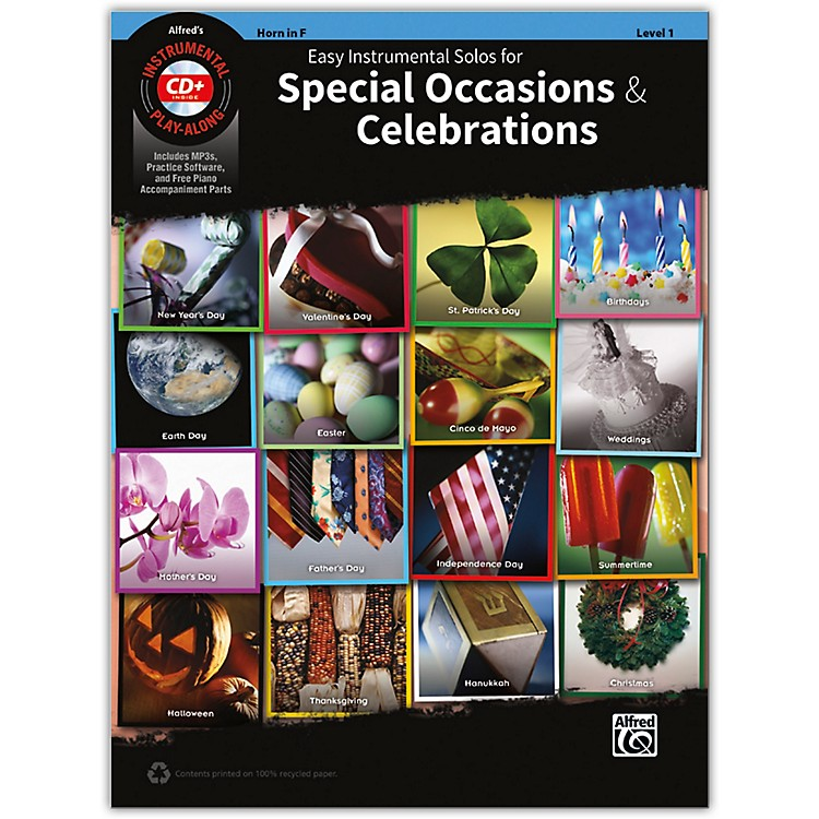 AlfredEasy Instrumental Solos for Special Occasions & Celebrations French Horn Book and MP3 CD