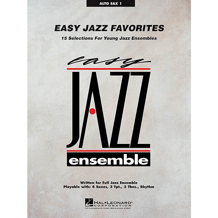 Hal LeonardEasy Jazz Favorites - Alto Sax 1 Jazz Band Level 2 Composed by Various