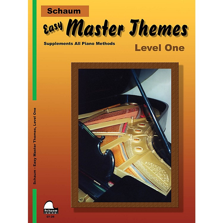 SCHAUMEasy Master Themes, Lev 1 Educational Piano Series Softcover