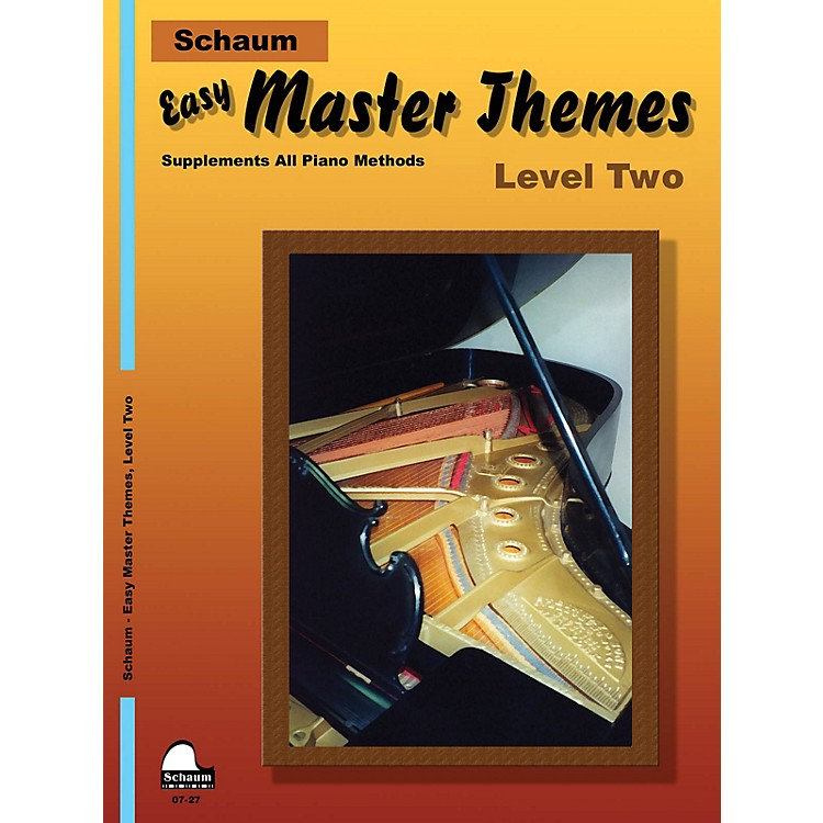 SCHAUM Easy Master Themes, Lev 2 Educational Piano Series Softcover