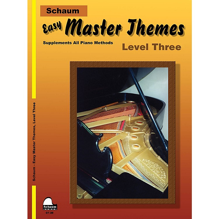 SCHAUM Easy Master Themes, Lev 3 Educational Piano Series Softcover