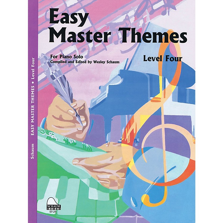 SCHAUMEasy Master Themes, Lev 4 Educational Piano Series Softcover