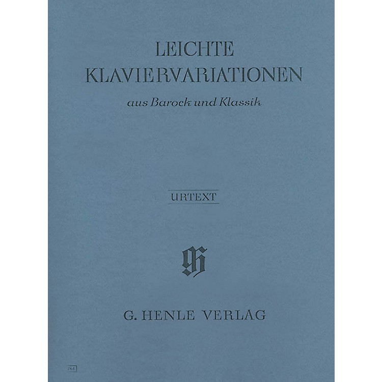 G. Henle Verlag Easy Piano Variations from the Baroque and Classical Periods Henle Music Folios Series Softcover