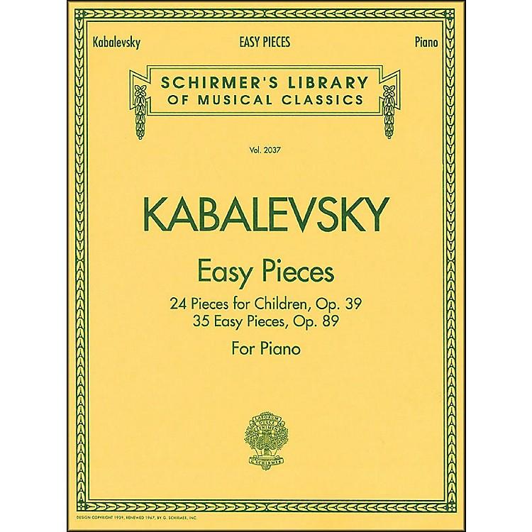 G. SchirmerEasy Pieces 24 And 35 Pieces for Children Op 39 Op 89 By Kabalevsky