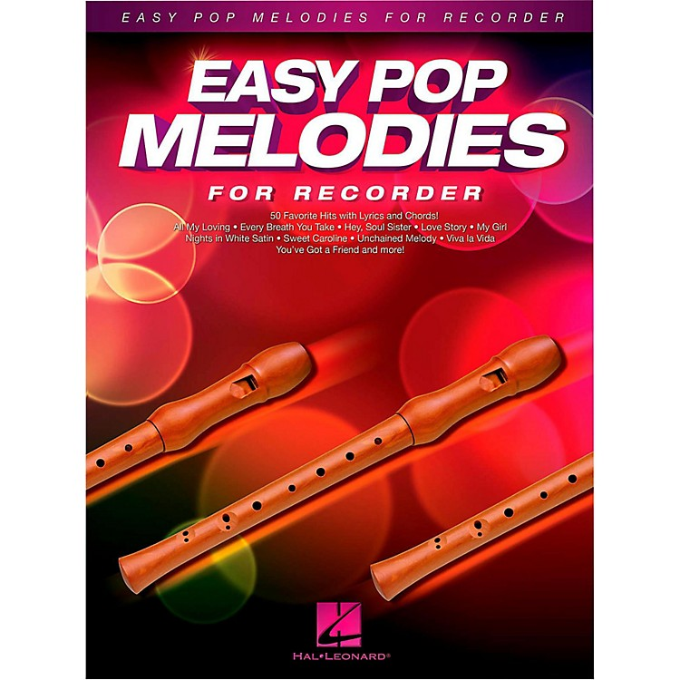 Hal Leonard Easy Pop Melodies For Recorder