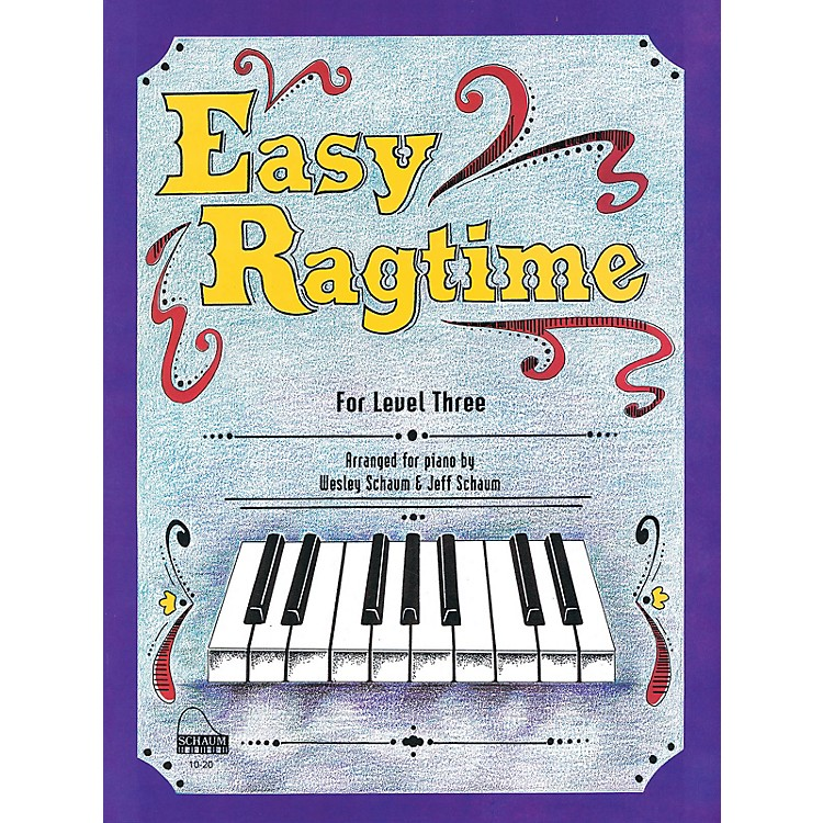 SCHAUMEasy Ragtime (Level 3 Early Inter) Educational Piano Book