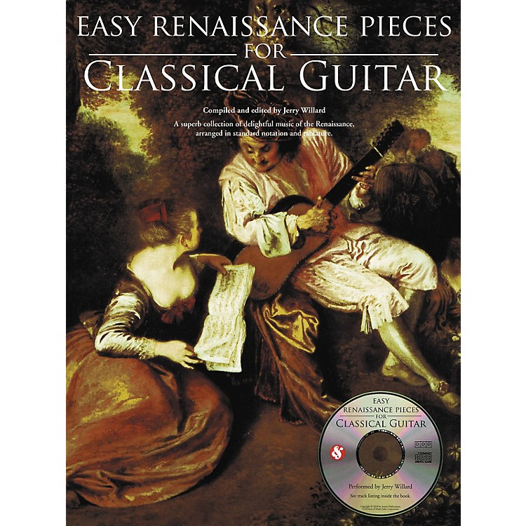 Music SalesEasy Renaissance Pieces For Classical Guitar (Book/CD)