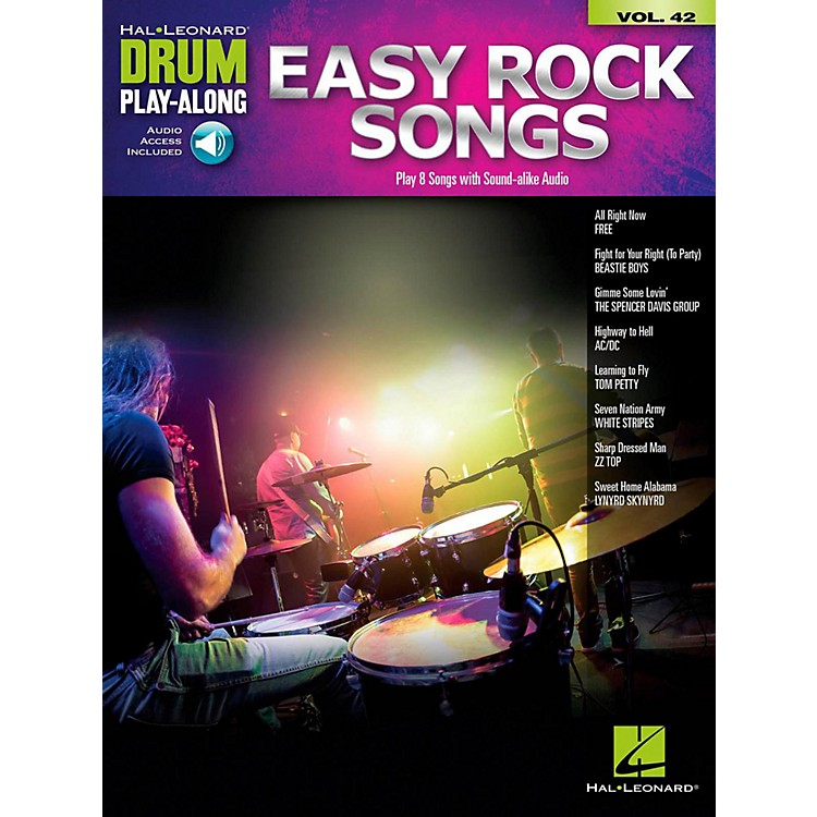 Hal Leonard Easy Rock Songs - Drum Play-Along Volume 42 Book/Audio Online
