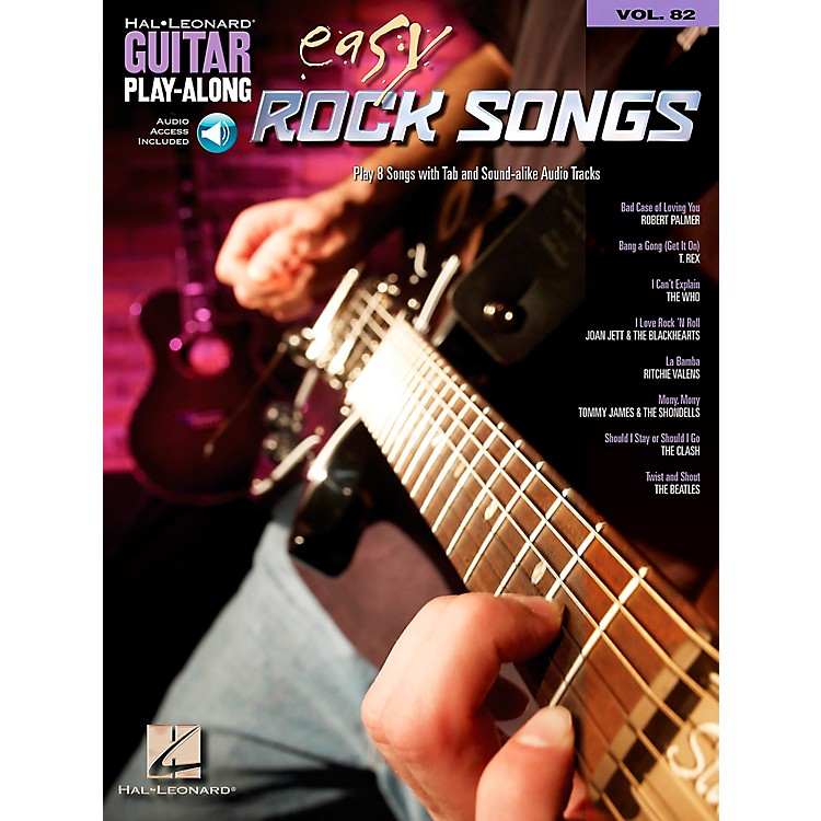 Hal Leonard Easy Rock Songs - Guitar Play-Along, Volume 82 (CD/Booklet)
