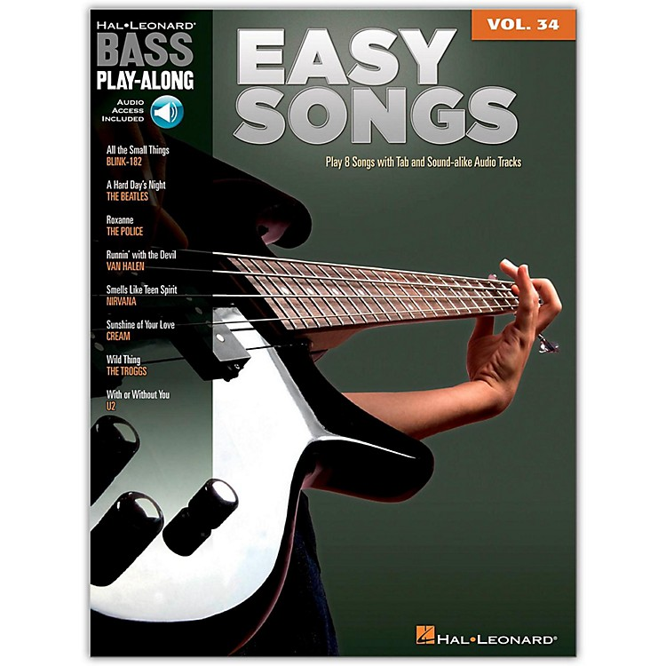 Hal LeonardEasy Songs - Bass Play-Along, Volume 34 (Book/online Audio)