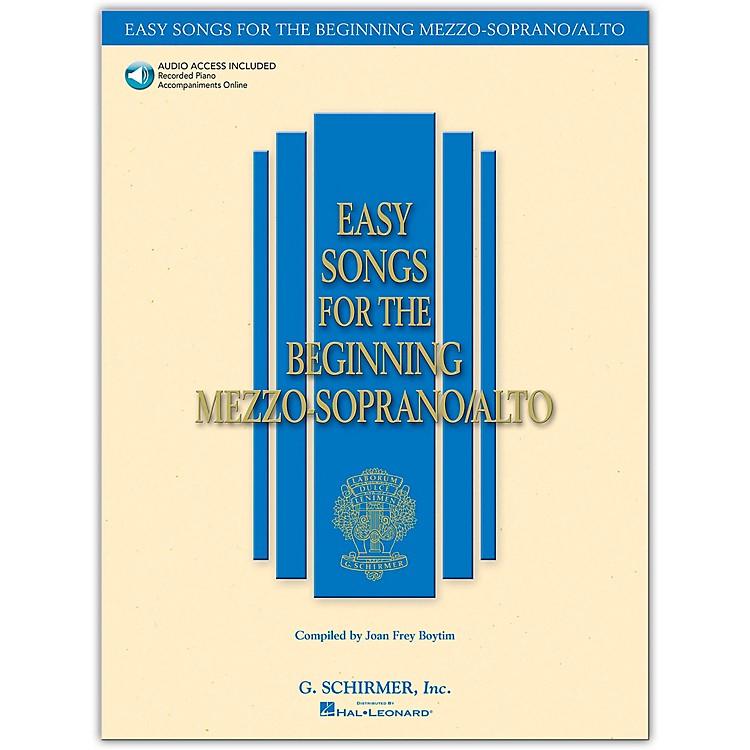 G. SchirmerEasy Songs for The Beginning Mezzo-Soprano / Alto Book/Online Audio