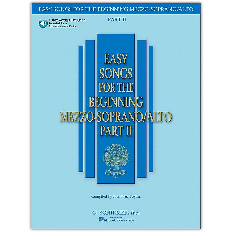 G. SchirmerEasy Songs for The Beginning Mezzo-Soprano / Alto Part II Book/Online Audio