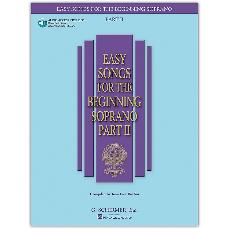 G. SchirmerEasy Songs for The Beginning Soprano Part II Book/Online Audio