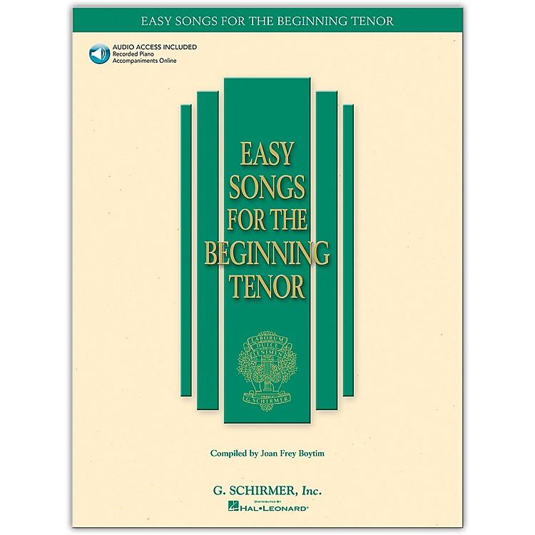 G. SchirmerEasy Songs for The Beginning for Tenor Voice Book/Online Audio