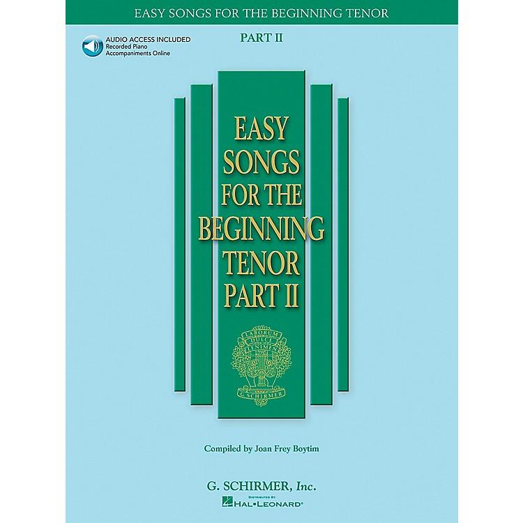 G. SchirmerEasy Songs for The Beginning for Tenor Voice Part II Book/CD