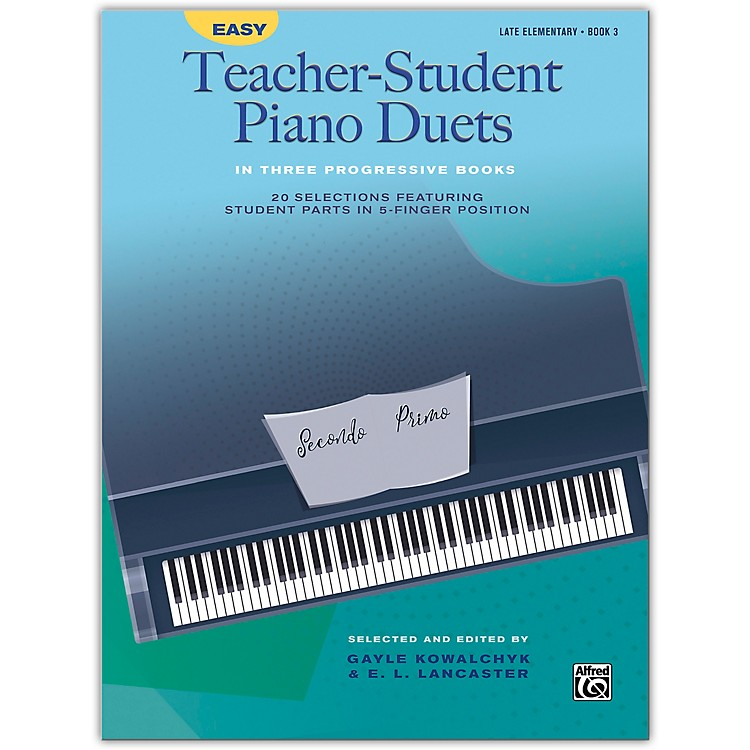Alfred Easy Teacher-Student Piano Duets in Three Progressive Books, Book 3 Late Elementary