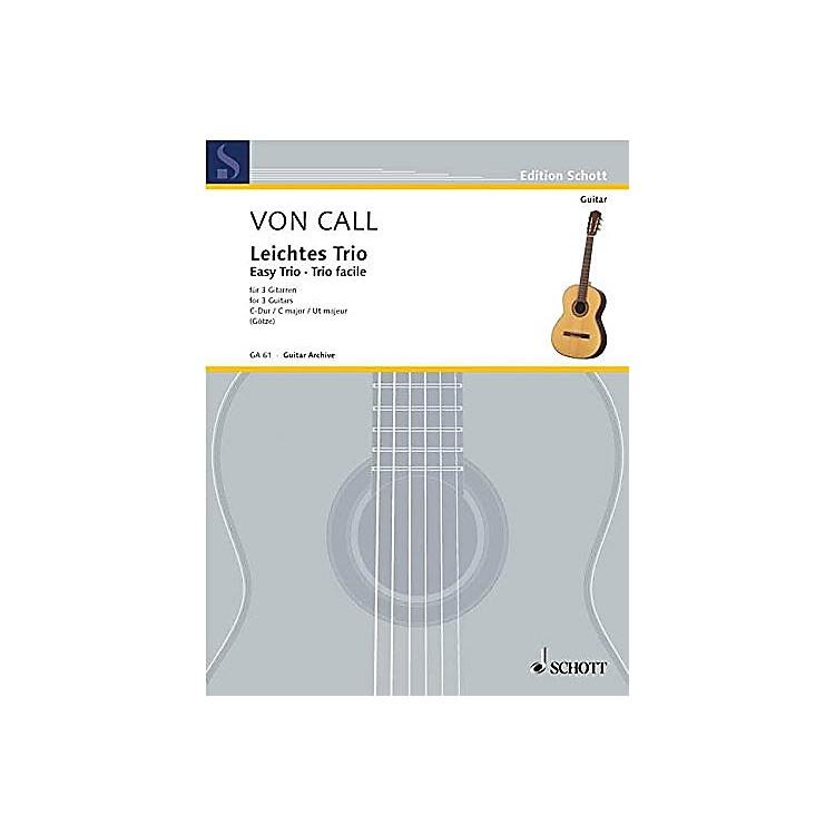 SchottEasy Trio in C Major, Op. 26 (for Three Guitars) Schott Series